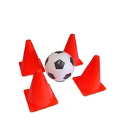 Mookie Soccer Football - Ball & 4 Cones
