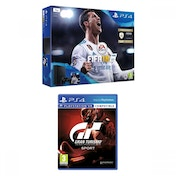 PlayStation 4 (1TB) Black Console FIFA 18 + Gran Turismo Sport Bundle
