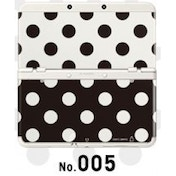 New Nintendo 3DS Cover Plates No 005 Black & White Polkadot Faceplate