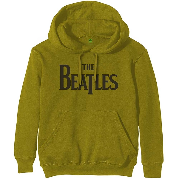 The Beatles - Drop T Logo Unisex Large Pullover Hoodie - Green