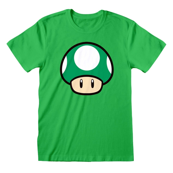 Super Mario - 1-UP Mushroom Unisex X-Large T-Shirt - Green