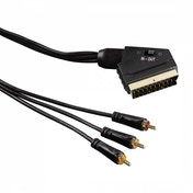 Hama Video Cable Scart plug - 3 RCA plugs (video/stereo) 1.5m