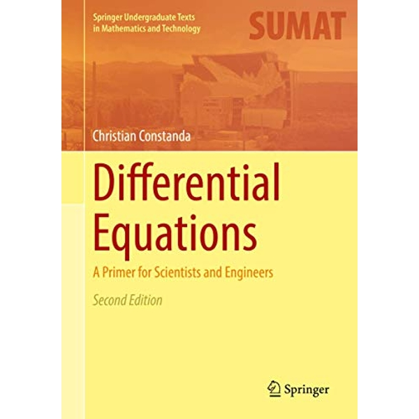 Differential Equations A Primer for Scientists and Engineers Hardback 2017