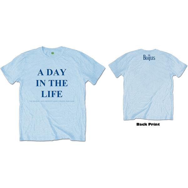 The Beatles - A Day in the Life Unisex Large T-Shirt - Blue