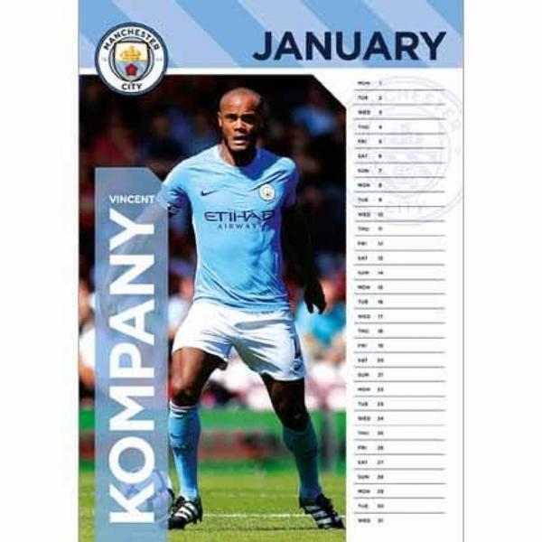 Manchester City F.C. Official 2018 Calendar
