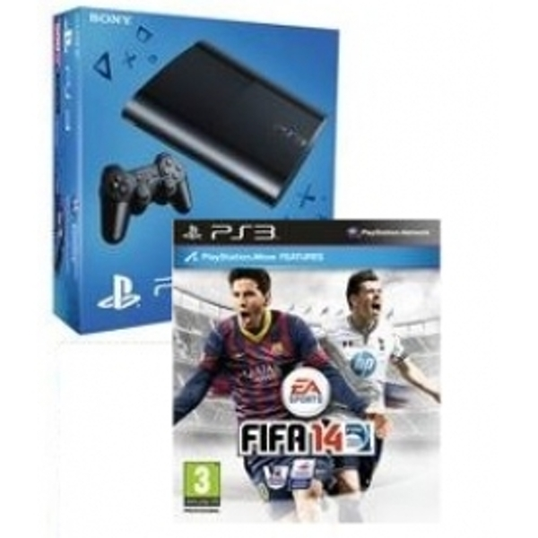 12GB Super Slim Console System Black + FIFA 14 Game PS3 - nzgameshop com