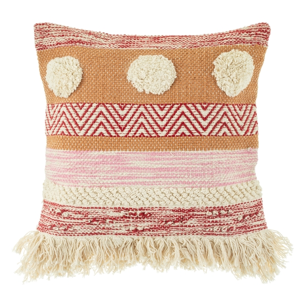 Sass & Belle Nevada Pink Woven Stripe Cushion