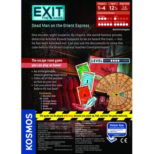 Exit: Dead Man On The Orient Express Board Game - Image 4