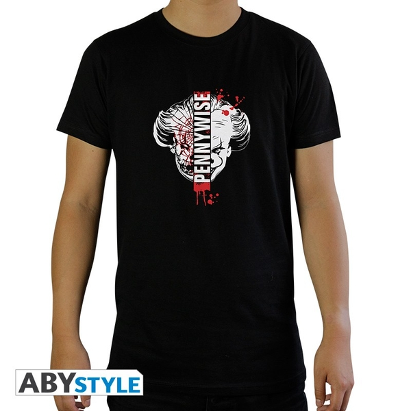 """IT - """"Pennywise"""" Mens SS T-Shirt - Black"""