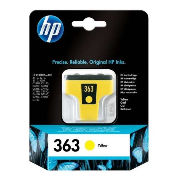 HP C8773EE (363) Ink cartridge yellow, 500 pages, 6ml