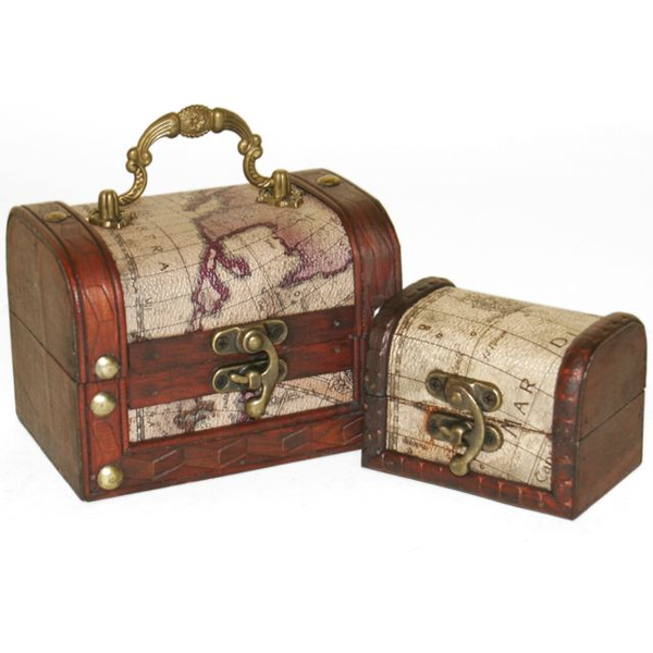 Set of 2 Map Chests