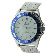 Slazenger Mens Quartz Watch with Silver Dial Analogue Display and Silver Bracelet (SLZ158B)