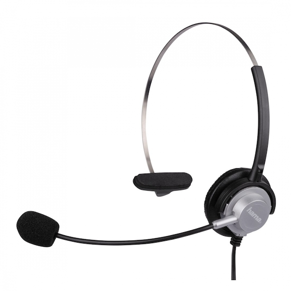 Image of HAMA 40625 Headset - Silver & Black, Silver