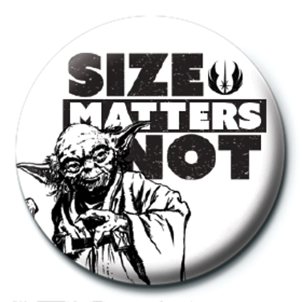 Star Wars - Size Matters Not Badge