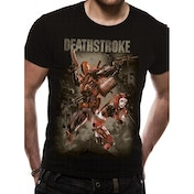 Justice League - Deathstroke Men's Medium T-Shirt - Black