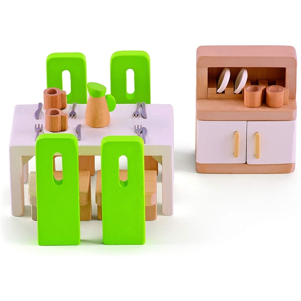 Hape Dining Room Wooden Dolls House Playset