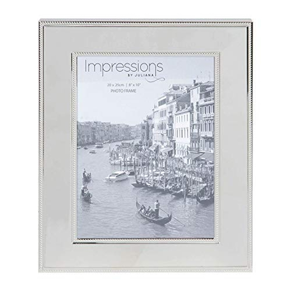 """8"""" x 10"""" - Impressions Nickel Plated Steel Photo Frame"""