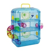 Hamster Cage | 3 Story With Tubes | Perfect For Hamsters And Gerbils | M&W Blue New