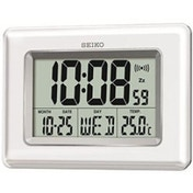 Seiko QHL058W Digital LCD Clock White