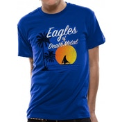 Eagles Of Death Metal - Sun Logo Unisex Small T-Shirt - Blue