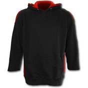 Metall Streetwear Red Ripped Men's Medium Hoodie - Black