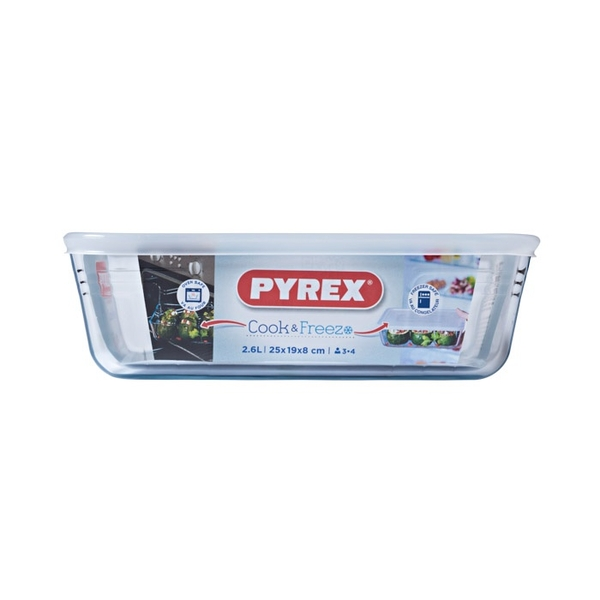 Pyrex Rectangular Dish With Lid 2.6L