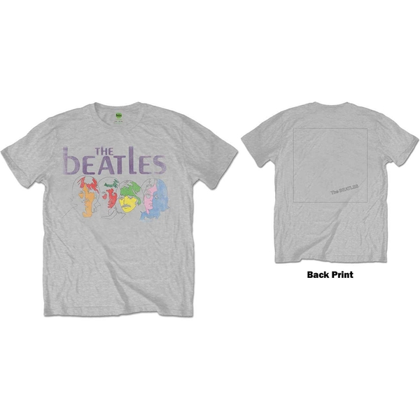 The Beatles - White Album Back Men's X-Large T-Shirt - Grey