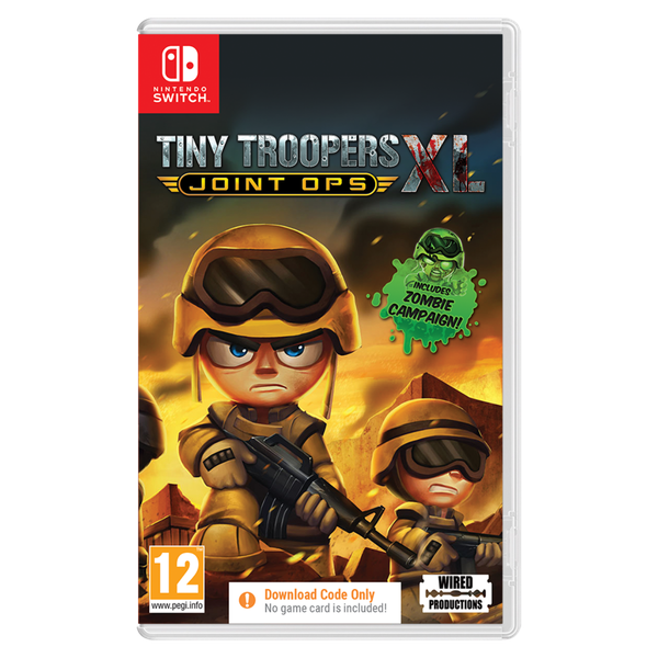 Tiny Troopers Joint Ops XL Nintendo Switch Game [Download Code In A Box]