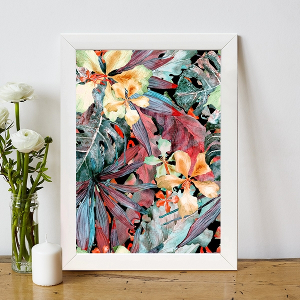 BC794486410 Multicolor Decorative Framed MDF Painting
