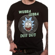 Rick And Morty - Wubba Lubba Men's Small T-Shirt - Black