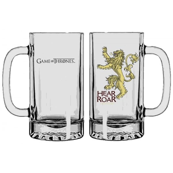 Game of Thrones Lannister beer glass
