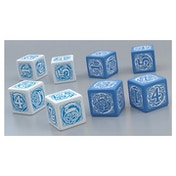 Blue Rose Dice Set (6 Dice)