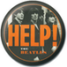 The Beatles - Orange Help Badge - Image 2