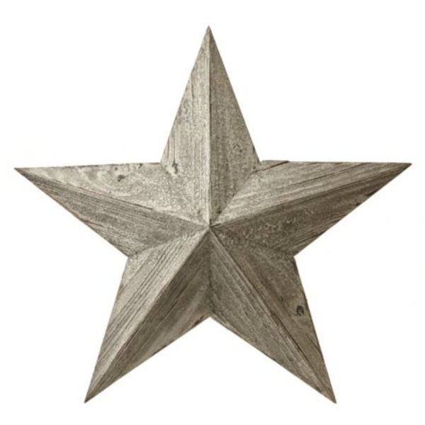 White Wooden Lucky Hanging Star By Heaven Sends