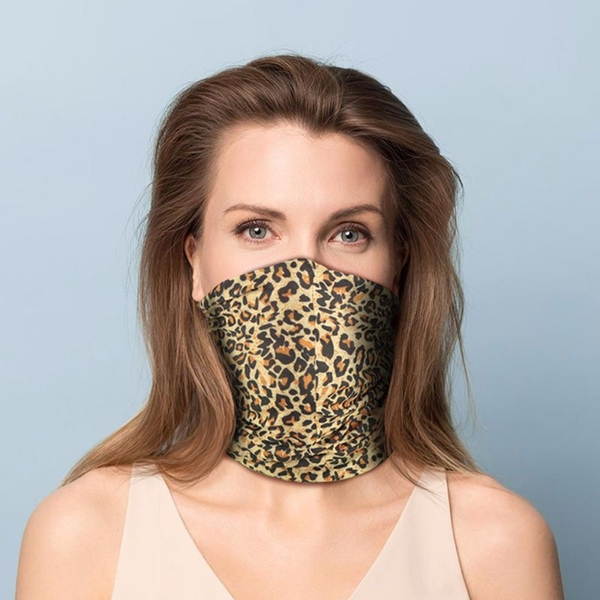 Leopard Print Neck Scarf Face Covering