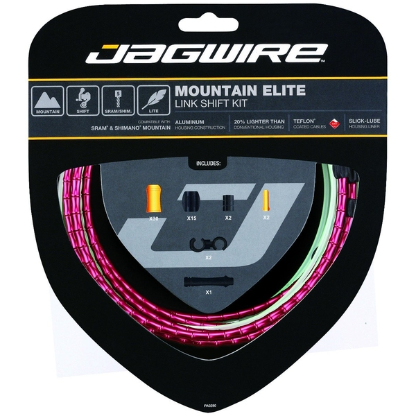 Jagwire Mountain Elite Link Shift Cable Kit Red