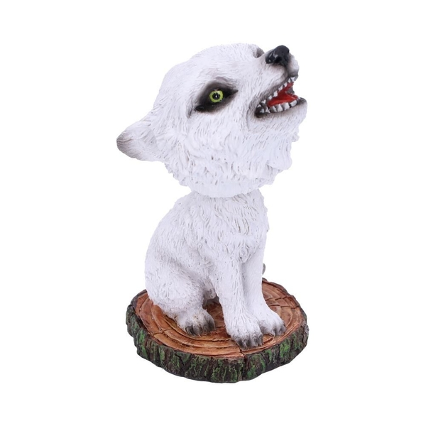 Bobble Winter Wolf Cub Bobble Head Figurine