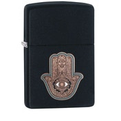 Zippo Hamsa Hand Black Matte Finish Windproof Lighter