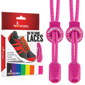 Proworks No Tie Reflective Shoe Laces - Pink