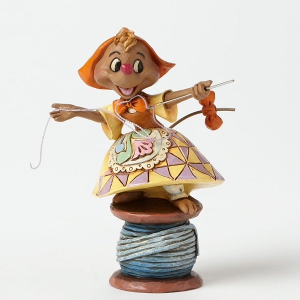 Disney Traditions Cinderella Kind Helper Suzy on Spool of Thread
