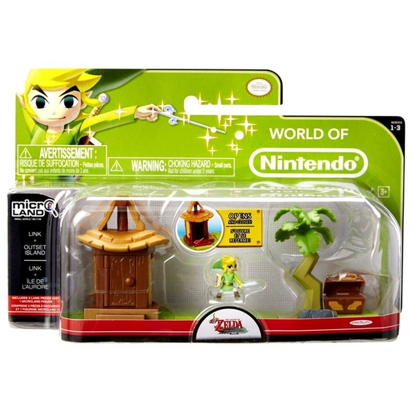 Link & Outset Island (The Legend Of Zelda) Microland Action Figure - Image 1