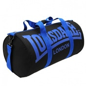 Lonsdale Barrel Bag Black & Blue