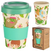 Bambootique Eco Friendly Sloth Design Travel Cup/Mug