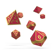 Oakie Doakie Dice RPG Set Metal Glow In The Dark (Golden Princess)