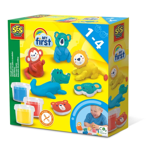 SES CREATIVE Children's My First Modelling Dough Animals