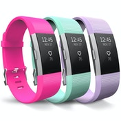 Yousave Hot Pink/Mint Green/Lilac Activity Tracker Strap - Large (3 Pack)