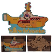 Funky Beatles Yellow Submarine Wall Clock