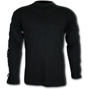 Gothic Rock CrosStrap Men's Medium Long Sleeve T-Shirt - Black