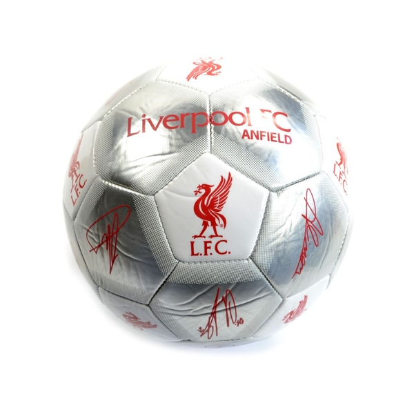 Liverpool Special Edition Signature Ball Size 5 Silver White Red