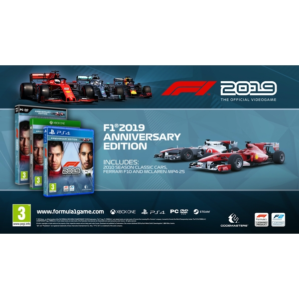 F1 2019 Anniversary Edition Ps4 Game 365games Co Uk